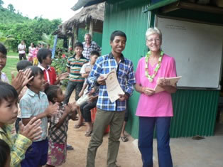 volunteer opportunities abroad holidays seniors retirees cambodia teaching school